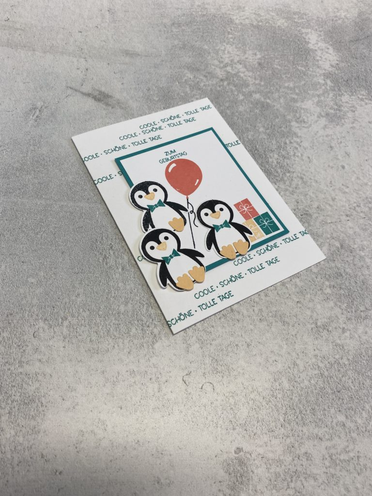 Geburtstagskarte Pinguin-Party Stampinup