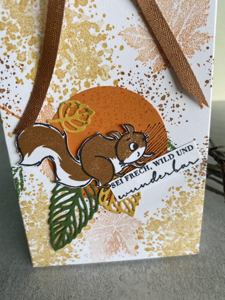 Nuts about Squirrels Stampin Up Geschenktüte Herbst