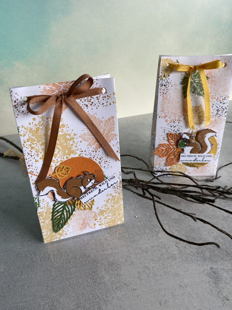 Herbst Stampin Up handgefertigte Geschenktüten