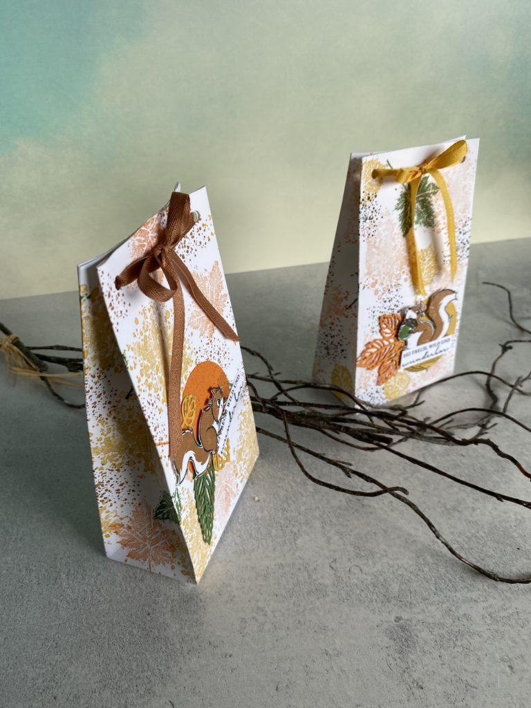 Herbstliche Geschenktüte Stampinup